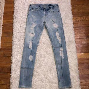 DL1961 Amanda Skinny Distressed Jeans 26
